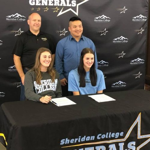 2020 Nadja Gale signs for Sheridan College